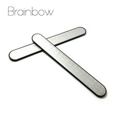 Brainbow 2pc Stainless Steel Nail Files Buffer Sanding Polishing Nail Grinding Blocks Grind Sand Nail Art Pedicure Manicure Tool