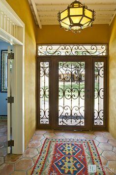 Rustic Entryway and Hallway photo by Leedy Interiors