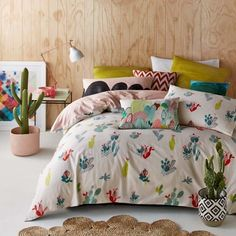 Designer Series Sierra | cacti illustration duvet set