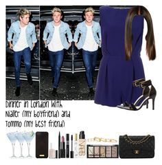 """""""Dinner in London with Nialler (my boyfriend) and Tommo (my best friend)"""" by jaynnelinsstyles ❤ liked on Polyvore featuring memento, Topshop, Mint Velvet, Marc Jacobs, Chanel, H&M, NARS Cosmetics, Christian Dior, Henri Bendel and Essie"""