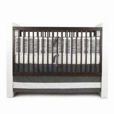 Amazon.com: Oilo Sticks Standard Crib Set, Pewter: Baby