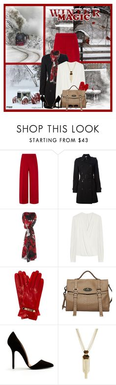 """Winter Magic"" by marion-fashionista-diva-miller ❤ liked on Polyvore featuring Carolina Herrera, Burberry, Linea, Mulberry, Moschino Cheap & Chic, Zara, Vince Camuto, Ray-Ban, fashionset and winterfashion"