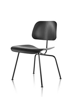 Eames Molded Plywood Dining Chair with Metal Base - DCM