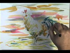 Watercolor Painting Demonstration of Rooster by Jennifer Branch