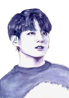 Watercolour print of BTS member Jungkook. This print is part of my BTS watercolour collection. Printed on good quality A4 (8.5 x 11.7) paper with a matte finish to allow it to look more like the original painting. This item will be packaged in a clear cello bag to avoid water-damage and sent in a cardboard envelope to minimize chances of being bent.