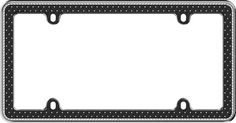 Button Tuck Bling Black License Plate Frame: Adds a touch of sparkle to your vehicle Made from durable zinc die cast metal Lined with…