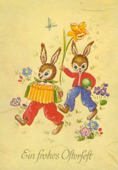 Easter Traditions, Easter Art, Vintage Easter, Winnie The Pooh, Postcards, Disney Characters, Fictional Characters, Rabbits, Easter Activities