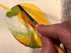 How to paint leaves in Watercolor - Watercolor DVD Preview by Doris Joa