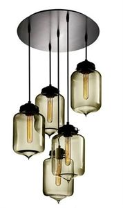 London 5 Light Glass Pendant (0172-Italux) V & M Imports