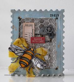 Queen Bee Shadowbox tutorial created by Emma Williams for the Simon Says Stamp Monday Challenge blog