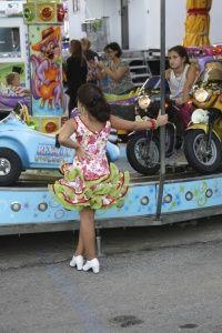 The Nerja Feria amusement rides