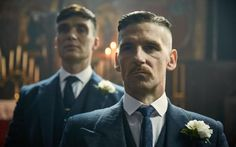 Cillian Murphy as Tommy and Paul Anderson as Arthur Shelby