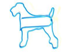 Büroklammer Hund: Airedale Terrier - Airdale Büroklammer - Tierisch-tolle-Geschenke