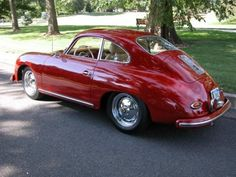 1959 Porsche 356A Sunroof Coupe red