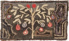 American hooked rug, late 19th c., 19 1/2'' x 33