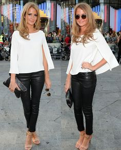 Millie Mackintosh - a second look at the sleeve on this fantastic blouse (or cape)