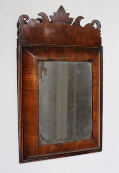 18th Century Mahogany Cushion Framed Wall Mirror of Small Proportions in FURNITURE from Hand of Glory Antiques