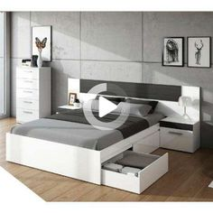 33 Awesome Modern Small Bedroom Design And Decor Ideas - It used to be very difficult to get a decent small bedroom design but the times have changed and with the way in which modern furniture and room desig. Small Bedroom Storage, Small Bedroom Designs, Bedroom Bed Design, Bedroom Furniture Design, Bed Furniture, Bedroom Sets, Furniture Storage, Box Bed Design, Bed Back Design