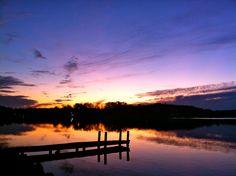 Sunset over the water #AppleValleyLake #KnoxCountyOhio