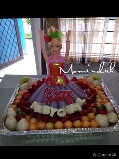 Puding Barbie aneka buah Pesanan dr. Elisa Pakpahan, Sp.JP untuk ulang tahun putri tercinta, Abbygail