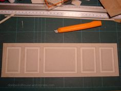 Panelling from card ... I was just wondering how to do this