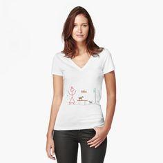 'Giraffe's favourite Tree. Acacia, umbrella tree' Fitted V-Neck T-Shirt by DebbieJoyArt My T Shirt, V Neck T Shirt, Hamster, Vintage T-shirts, Vintage Style, Acacia, Chiffon Tops, Sleeveless Tops, Sexy