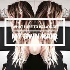 What I Use to Balayage my Own Hair. A beautiful balayage doesn't come cheap, and sometimes doesn't come out the way you wanted it to. Instead, do it yourself! Ill show you what I use and a few tips and techniques for the a beautiful balayage!