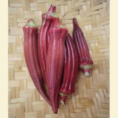 'Aunt Hettie's' red okra. Photo courtesy of Sow True Seed. Down South, Gardening Tips, Vegetable Gardening, Garden Seeds, Okra, Grow Your Own, Garden Inspiration, Agriculture, Aunt