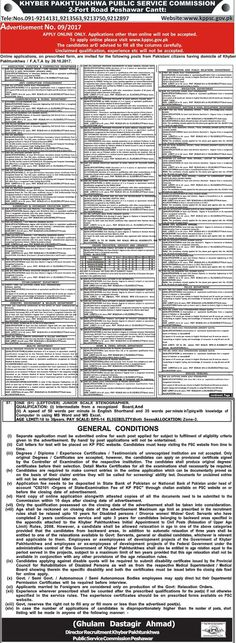 Pakistan Job Alert: Jobs-in-Khyber-Pakhtunkhwa-Public-Service-Commissi...