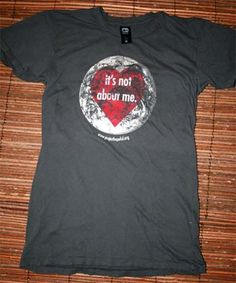 It's Not About Me t-shirt by Project Hopeful- supporting families that adopt kids with HIV/Aids- want this shirt