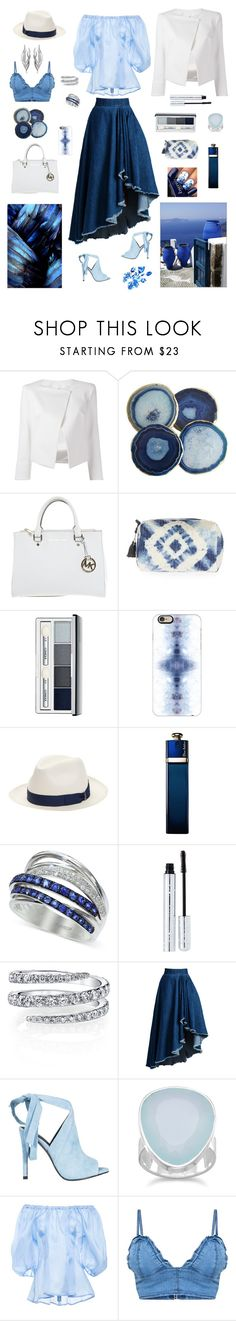 """Морские волны"" by ima7753191 on Polyvore featuring Plein Sud Jeanius, Michael Kors, Topshop, Clinique, Casetify, Borsalino, Christian Dior, Effy Jewelry, 100% Pure and WithChic"