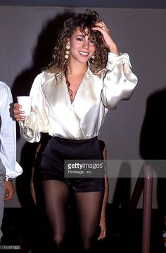 Mariah Carey during 1991 MTV Video Music Awards in Los Angeles, California, United States.