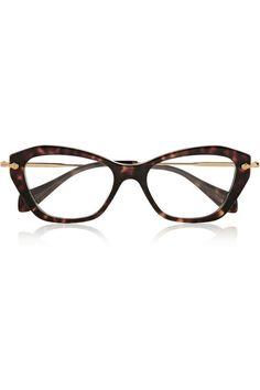 Miu Miu | Cat eye acetate optical glasses