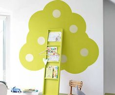 cantinho da leitura quarto infantil verde