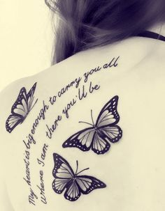 black and white #butterfly #tattoo