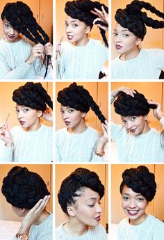 Follow this asymmetrical updo hair tutorial to give your locks a box braid look.