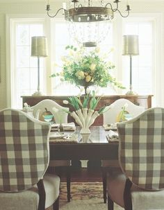 www.eyefordesignlfd.blogspot.com  Decorate With Buffalo Checks For Charming Interiors...LOVE