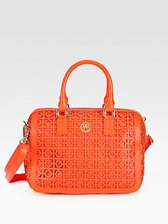 Tory Burch - Kelsey Perforated Middy Satchel - Saks.com
