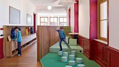 ZMIK Endows a Historic Building in Basel with Playful Learning Spaces Learning Spaces, Learning Environments, Play To Learn, Learn To Read, Activity Based Learning, Swiss Design, Basel, School Design, Interior And Exterior