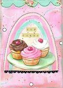 Imagen de Cupcakes mixto 8x10 collage medios de comunicación impresos enmarañado encaja 11x14 marco