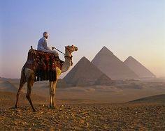 Camel Rider near the Pyramids of Giza