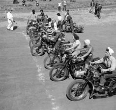 50s Girls in Motorcycle Race