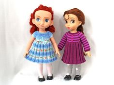 "Knitting pattern for dresses for Disney Animators' dolls (16""). Instant Digital Download PDF."