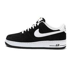 on sale c152b b6fc8 Mens Nike Air Force One Low Basketball Shoes Black White Force One Shoes  Sale Online