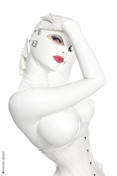 All white latex catsuit... I'm getting excited for Florida!!