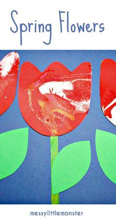 spin art flower craft