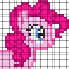Pinkie Pie Head Perler Bead Pattern / Bead Sprite