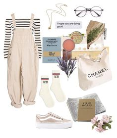 """times like these"" by nightlikethis ❤ liked on Polyvore featuring Topshop, Vans, N°21, Rosebud Perfume Co., Olympia Le-Tan and Chanel"