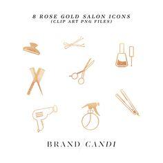 Rose Gold Salon Icons  @creativework247