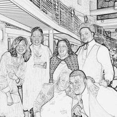 My family, from right to left.  Standing  Breshon Tate, Wanda Tate his mother,  Taller lady is Jackie Tate, her daughter JaCarri Tate, Mother sitting is Mary Tate..  Heavy set male knelling?